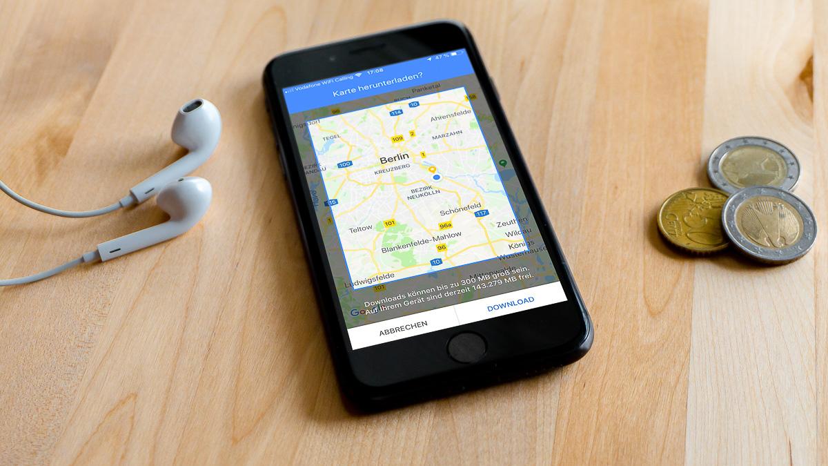 GoogleMaps offline Karten