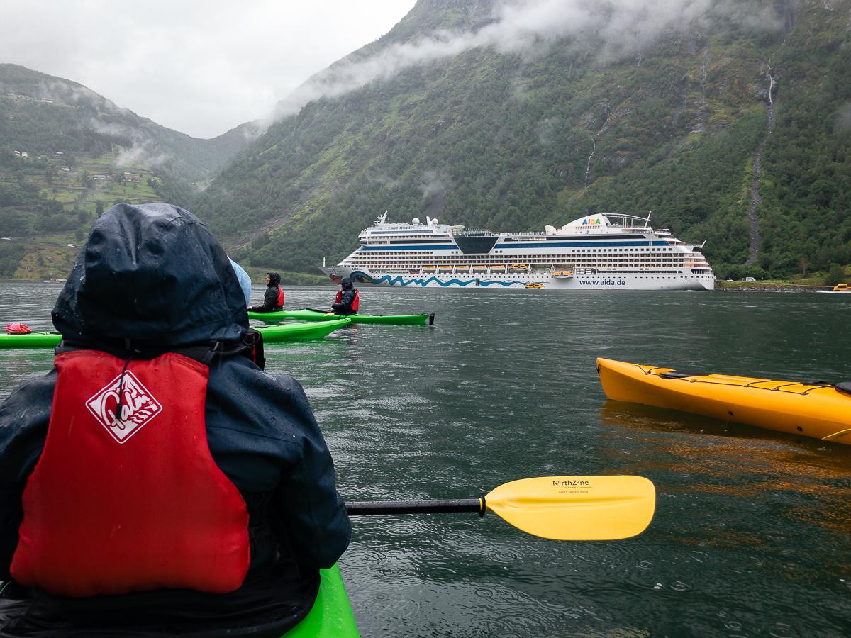 Kajaktour im Geirangerfjord